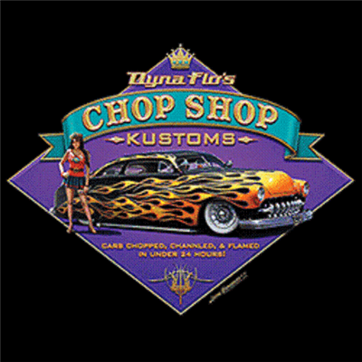 Lead Sled Dyna Flo's Chop Shop Kustoms Hot Rod T-shirt