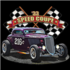 Ford '33 Speed Coupe Hot Rod Drag Race T-shirt