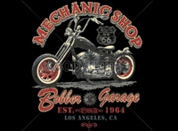 Bobber Garage Mechanic Shop Motorcycle Work Shirt