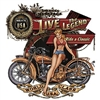 Live The Legend Motorcycle Biker T-shirt