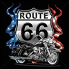 Route 66 Motorcycle Biker T-shirt