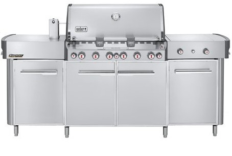 "Weber Summit Grill Center Propane Gas Grill with Rotisserie Sear Burner and Side Burner Stainless Steel 91"" - 291001"