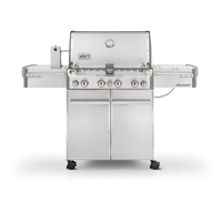 "Weber Summit S-470 Gas Grill with 4 Burners and Rotisserie System Stainless Steel 66"" - 7170001"
