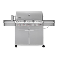 Weber Summit S-670 Gas Grill with 6 Burners and Rotisserie System Stainless Steel - 7370001