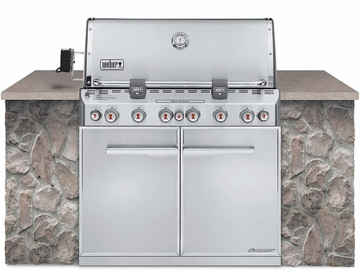 "Weber Summit S-660 Gas Grill with 6 Burners and Rotisserie System Stainless Steel 40"" - 7460001"
