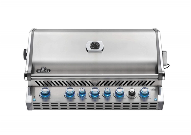 "Napoleon BIPRO665RBPSS-3 42"" Built-In Prestige Pro 665 RB Built-In Liquid Propane Gas Grill with Infrared Back Burner Dual-Level Stainless - BIPRO665RBPSS3"
