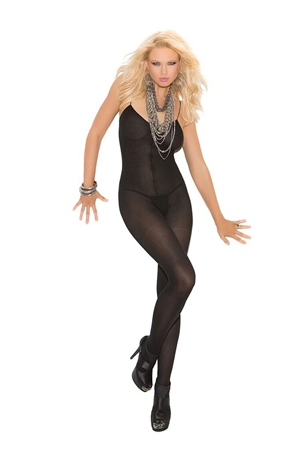 OPAQUE BODYSTOCKING - BLACK