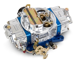 HOLLEY ULTRA ALUMINUM 650 CFM DOUBLE PUMPER CARBURETOR, SQUARE-FLANGE, ELECTRIC CHOKE, MECHANICAL SECONDARIES - VIBRATORY POLISHED -- 0-76650BL