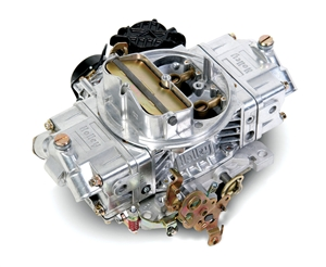 HOLLEY ALUMINUM STREET AVENGER 570 CFM CARBURETOR, SQUARE-FLANGE, ELECTRIC CHOKE - TUMBLE POLISHED  -- 0-83570