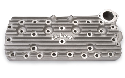 EDELBROCK CYLINDER HEADS HIGH LIFT/ LARGE CHAMBER 74CC FOR 1949-53 FORD FLATHEAD- SCRIPT LOGO  -- 1116