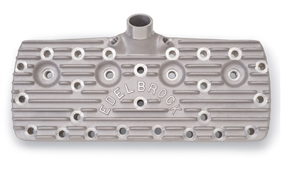 EDELBROCK CYLINDER HEADS 65CC FOR 1938-48 FORD FLATHEAD- BLOCK LOGO -- 1126
