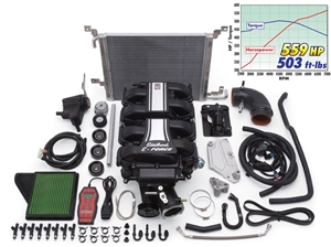 EDELBROCK E-FORCE COMPLETE SUPERCHARGER SYSTEM WITH TUNER FOR 2011-14 FORD MUSTANG (5.0L 4V) -- 1588