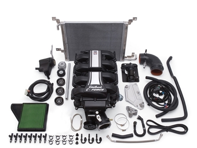EDELBROCK E-FORCE COMPLETE SUPERCHARGER SYSTEM WITHOUT TUNER FOR 2011-14 FORD MUSTANG (5.0L 4V) -- 15880