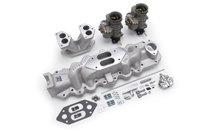 EDELBROCK DUAL CARB KIT FOR 1938-48 FORD FLATHEAD (SLINGSHOT MANIFOLD)  -- 2012
