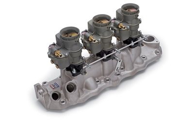 EDELBROCK TRIPLE CARB KIT FOR 1949-53 FORD FLATHEAD (TRIPLE DEUCE MANIFOLD)  -- 2014