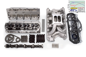 EDELBROCK RPM FOR 351W S/B FORD (1969-95) POWER PACKAGE TOP END KIT- 400HP & 412 FT/LBS- SATIN FINISH  - 2092