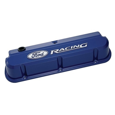 FORD RACING 289-351 SLANT EDGE VALVE COVER BLUE  -- 302-136