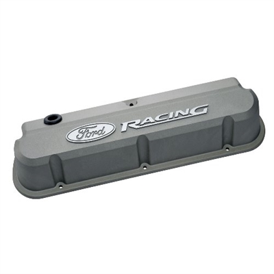 FORD RACING 289-351 SLANT EDGE VALVE COVER GRAY  -- 302-137