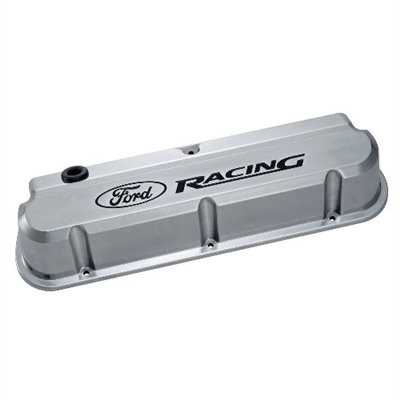 FORD RACING 289-351 SLANT EDGE VALVE COVER POLISHED  -- 302-138