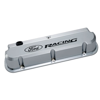 FORD RACING 289-351 SLANT EDGE VALVE COVER CHROME -- 302-139