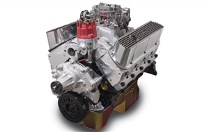 EDELBROCK PERFORMER RPM 9.9:1 (438 HP & 413 FT/LBS TQ) WITH REAR SUMP OIL PAN - SATIN FINISH  - 45270
