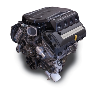 EDELBROCK SUPERCHARGED 5.0L COYOTE CRATE ENGINE (785 HP & 660 TQ) WITH ELECTRONICS AND ACCESSORIES - BLACK FINISH  - 468700