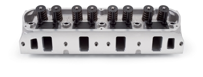 "EDELBROCK E-STREET CYLINDER HEADS (60CC) W/ 2.02"" INTAKE VALVES FOR S/B FORD 289-351W (COMPLETE, PAIR) - 5025"