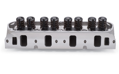 EDELBROCK E-SERIES E-205 CYLINDER HEADS FOR S/B FORD W/ MECHANICAL FLAT TAPPET & HYDRAULIC ROLLER CAMSHAFT APPS (COMPLETE, SINGLE)  - 5027