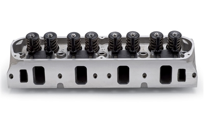 EDELBROCK E-SERIES E-205 CYLINDER HEADS FOR S/B FORD W/ HYDRAULIC FLAT TAPPET CAMSHAFT APPS (COMPLETE, SINGLE)  - 5028