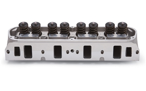 "EDELBROCK STREET LEGAL PERFORMER 5.0/ 5.8L CYLINDER HEADS W/ 2.02"" INTAKE VALVES FOR S/B FORD (COMPLETE, SINGLE) - 60399"