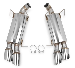 "Hooker Blackheart 3"" Axle-Back (GT-500 style) Exhaust kit with mufflers, 13-14 Ford Mustang 5.0L V8  -- 70403305-RHKR"