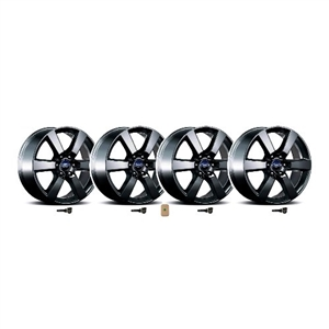 2015-2018 F-150 20X8.5 Six Spoke Wheel Set With TPMS Kit - Matte Black  -- M-1007K-P20XB