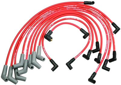 Ford Racing 9MM 5.0L/5.8L OHV V8 Red Spark Plug Wire Set -- M-12259-R301