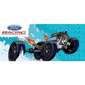 FORD RACING GENUINE MUSCLE PARTS BANNER -- M-1827-A60