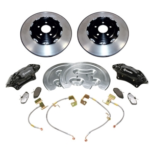 2005-2014 MUSTANG FOUR PISTON 14-INCH BRAKE UPGRADE KIT W/ 2-PIECE ROTORS -- M-2300-SA