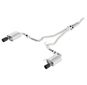 2016 MUSTANG 2.3L ECOBOOST EC-TYPE CAT BACK EXHAUST SYSTEM - BLACK CHROME TIPS  -- M-5200-M4GB
