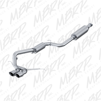 "MBRP 2013-2017 Ford Focus ST 2.0L Ecoboost 3"" Cat Back, Dual Center Outlet, Aluminized  -- S4200AL"