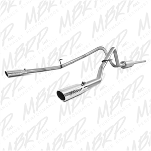 "MBRP 2004-2008 Ford F150 4.6/5.4L EC/CC-SB 3"" Cat Back, Dual Split Rear, Aluminized  -- S5202AL"