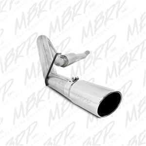 "MBRP 2011-2015 Ford F-250/350 6.2L V8 CC-SB/EC-LB 4"" Cat Back, Single Side Exit, Aluminized  -- S5246AL"