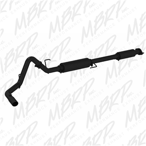"MBRP 2015 Ford F150 3"" Cat Back, Single Side Exit, Black coated  -- S5256BLK"