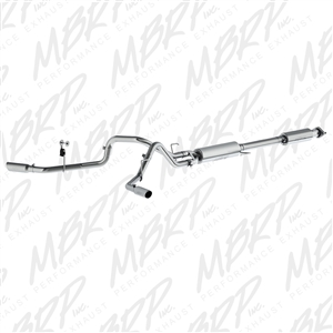 "MBRP 2015 Ford F150 2.5"" Cat Back, Dual Side Exit, T409  -- S5257409"