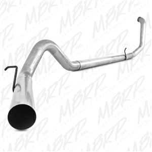 "MBRP 1999-2003 Ford F-250/350 7.3L 4"" Turbo Back, Single Side - no muffler  -- S6200PLM"
