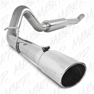 "MBRP 2003-2007 Ford F-250/350 6.0L, EC/CC 4"" Turbo Back, Single Side (Stock Cat) Exit, T409  -- S6206409"