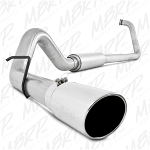 "MBRP 2003-2007 Ford F-250/350 6.0L 4"" Turbo Back, Single Side Exit, Off-Road, Aluminized  -- S6212AL"