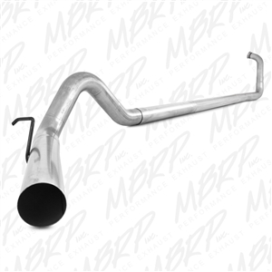 "MBRP 2003-2007 Ford F-250/350 6.0L 4"" Turbo Back, Single Side Off-Road - no muffler  -- S6212PLM"