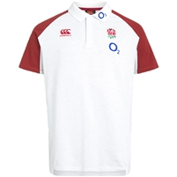 Canterbury Mens England Vapodri Cotton Pique Polo Shirt