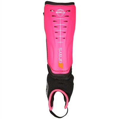Grays Shield Hockey Shinguard (Fluo Pink/Black)