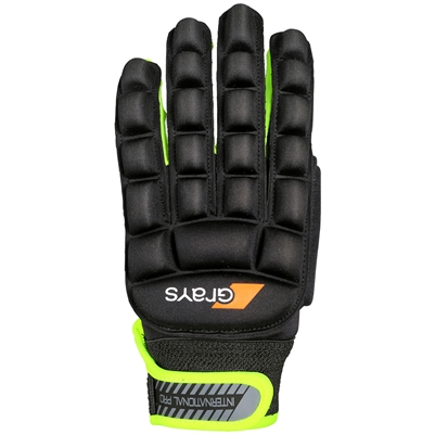 Grays International Pro Hockey Gloves. (Black/Fluo Yellow)
