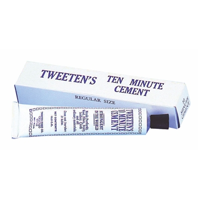 Tweeten's Ten Minute Tip Cement.