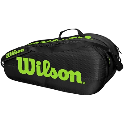 Wilson Team 2 Pack Competition Tennis Bag. (Black/Green)